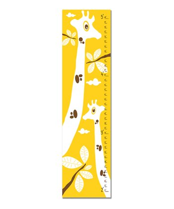 Yellow Giraffe Growth Chart