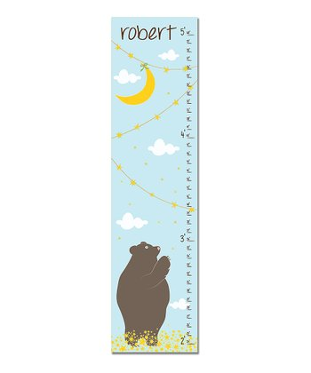 Blue Bear Personalized Growth Chart