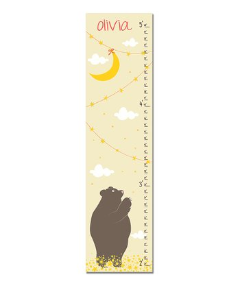 Cream Bear Personalized Growth Chart