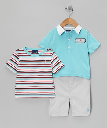 Teal Polo Set - Infant