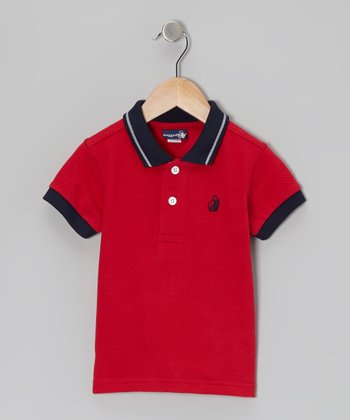 Red & Navy Polo - Infant & Toddler