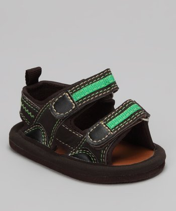 Brown Double-Strap Sandal