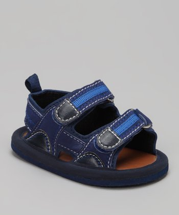 Navy Double-Strap Sandal