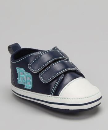 Rugged Bear Dark Blue & White Sneaker