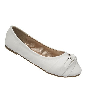 White Sally Ballet Flat