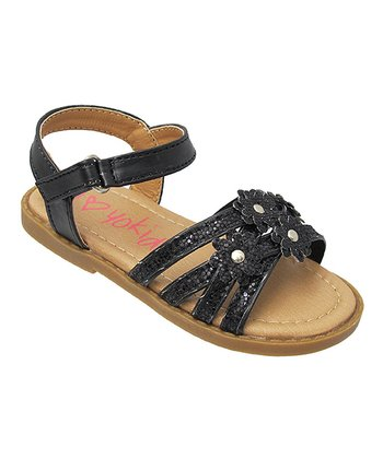 Black Bella Flower Sandal