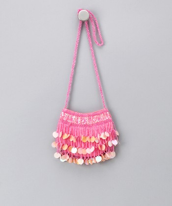 Pink Circle Sequin Purse