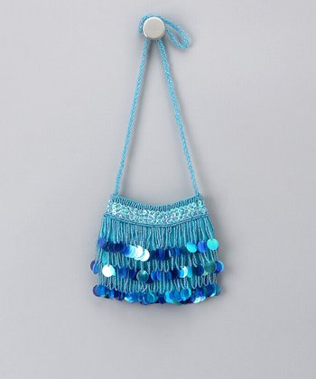 Turquoise Circle Sequin Purse