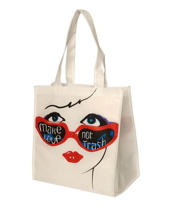 White & Red Sunglasses Tote
