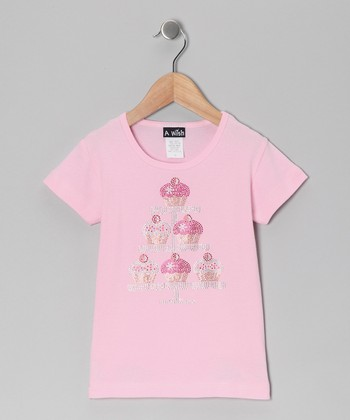 Pink Tiered Cupcake Platter Tee - Toddler & Girls