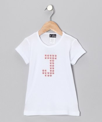 White Personalized Initial Tee - Infant, Toddler & Girls