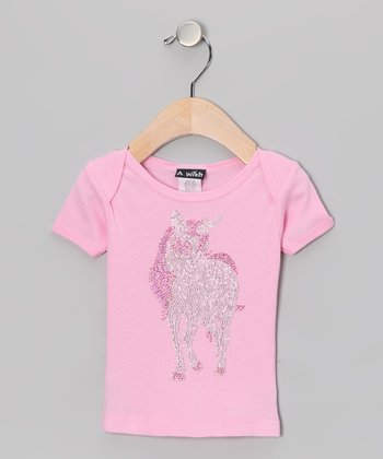 Pink Unicorn Lap Neck Tee - Infant