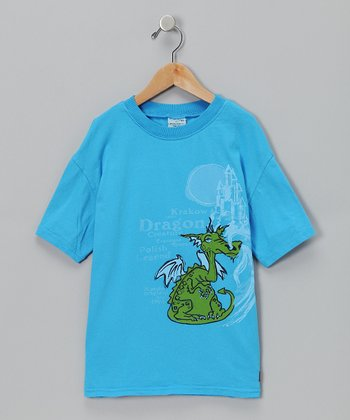Cobalt Krakow Dragon Tee - Toddler & Boys