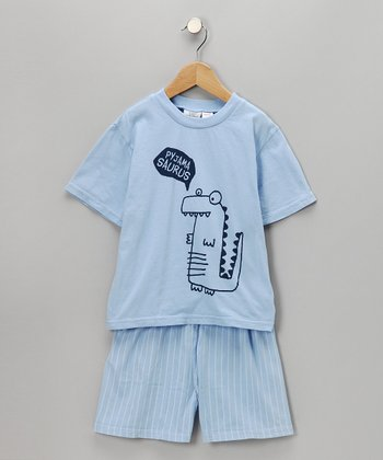 Heaven Sleepy Dino Tee & Shorts - Kids