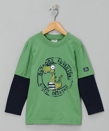 Bean Green Adventure Layered Tee - Infant, Toddler & Boys