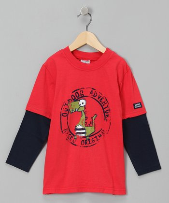 New Red Adventure Layered Tee - Infant, Toddler & Boys