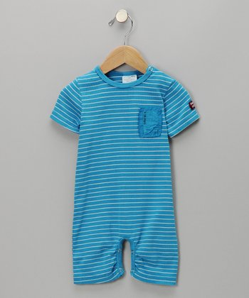 Cobalt Stripe Romper - Infant