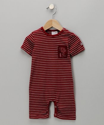 Red Stripe Romper - Infant