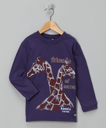 Evening Dusk Long-Sleeve Giraffe Tee - Infant, Toddler & Boys