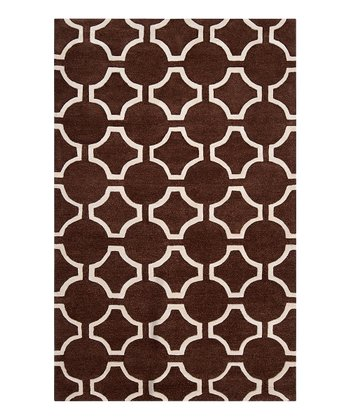 Coffee Bean & White Zuna Wool Rug
