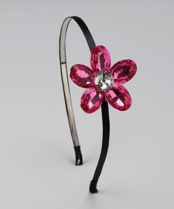 Pink Jewel Flower Headband