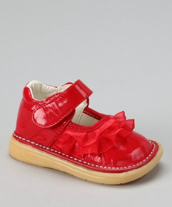 Red Patent Ruffle Mary Jane