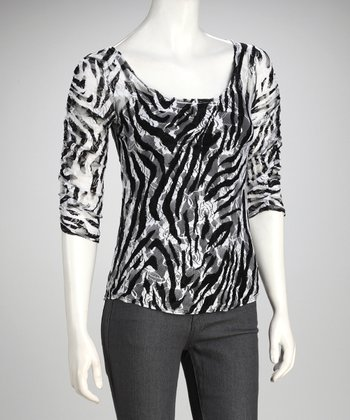 Zebra Lace Top