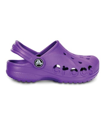 Neon Purple Baya Clog - Kids