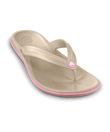 Stucco & Pink Lemonade Crocband Flip-Flop - Women