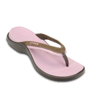 Chocolate & Bubblegum Vezzy Flip-Flop - Women