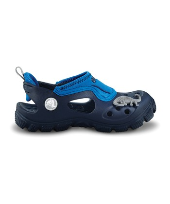 Navy & Sea Blue Micah Closed-Toe Sandal - Kids