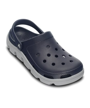 Navy & Light Gray Duet Sport Clog - Women & Men
