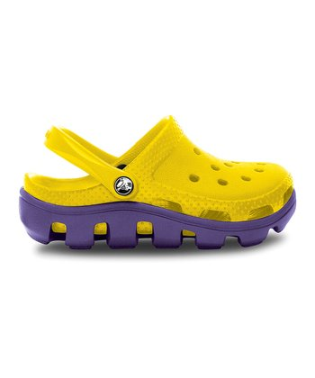 Yellow & Grape Duet Sport Clog - Kids
