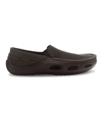 Espresso Leather Tideline Sport Slip-On Shoe - Men