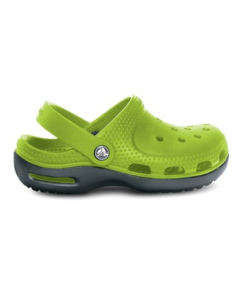 Parrot Green & Graphite Duet Plus Clog - Kids
