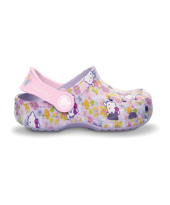 Lavender & Bubble Gum Hello Kitty Clog