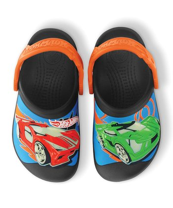 Black Hot Wheels™ Creative Crocs™ Clog - Kids
