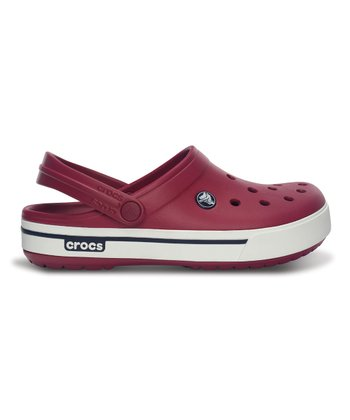 Pomegranate & Navy Crocband II.5 Clog - Men & Women
