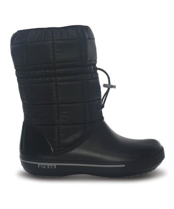 Black & Smoke Crocband II.5 Winter Boot - Women