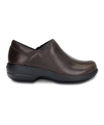 Espresso & Black Crocs™ Work Chelea Shoe - Women