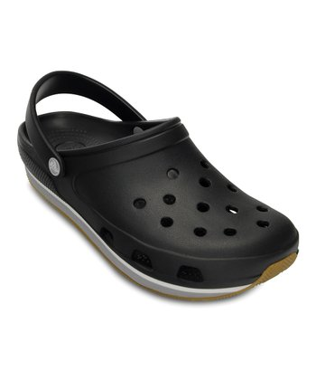 Black & Light Gray Retro Clog - Women & Men