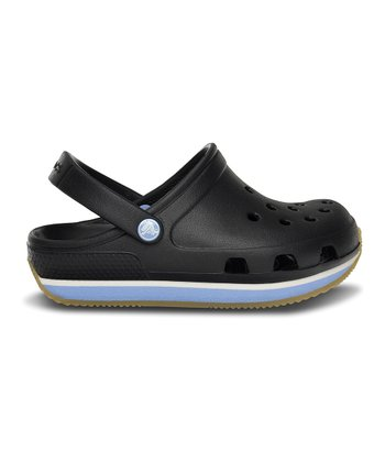 Black & Light Blue Crocs Retro Clog