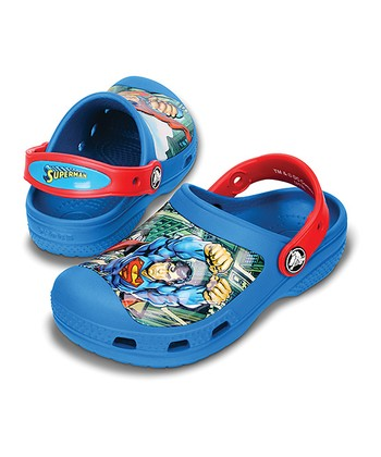 Blue & Red Superman™ Creative Crocs™ Clog - Kids