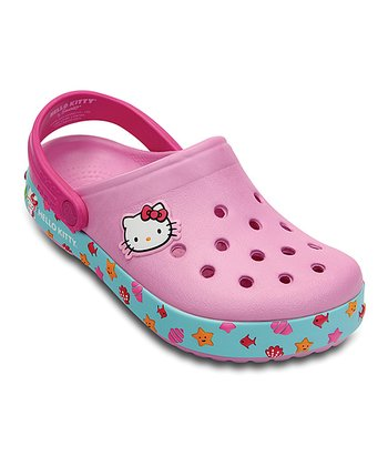Carnation & Neon Magenta Hello Kitty® Crocband™ Clog - Kids