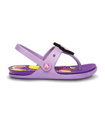 Crocs Iris & Neon Purple Reina Wild Fruit Sandal - Kids
