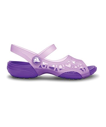 Iris & Neon Purple Adrina Hearts Sandal - Kids