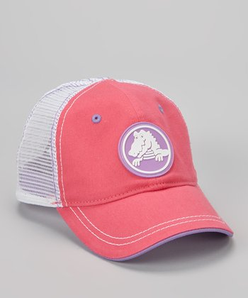 Fuchsia & White Duke Trucker Hat - Kids