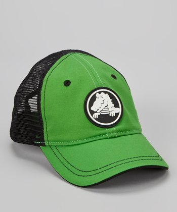 Lime & Black Duke Trucker Hat - Kids