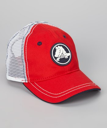 Red & Navy Duke Trucker Hat - Kids