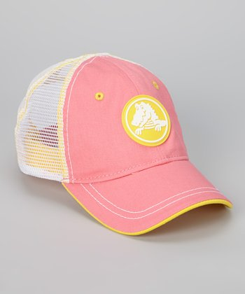 Pink & Yellow Duke Trucker Hat - Girls